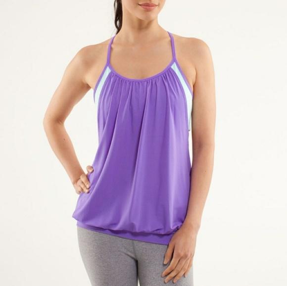 b4722d745d lululemon athletica Tops - Lululemon No Limits tank power purple aquamarine